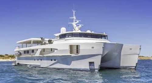 Echo yachts launch 46-metre support catamaran Charley