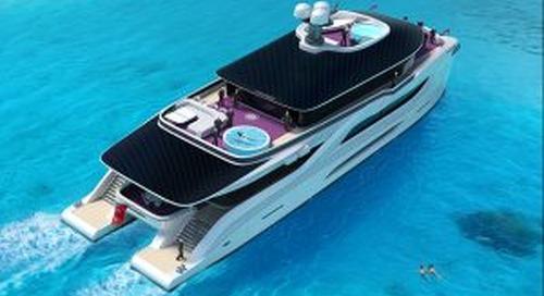 42m catamaran concept Solar Dream
