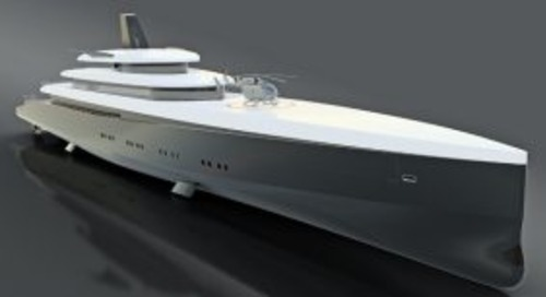 Laurent Giles unveils 110-metre HEMY concept