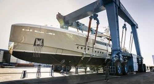 'Endeavour II' touches the water