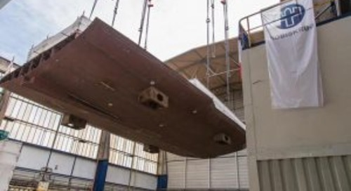Nobiskrug lays keel for new 80m yacht