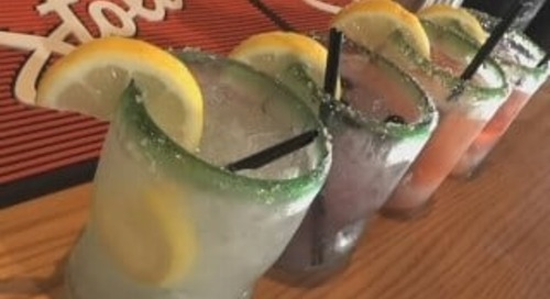 At the Bar: we hit up Chili's for a cocktail mixing lesson!