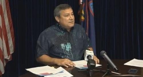 Calvo calls on senators not to override his veto on tax repeal bill