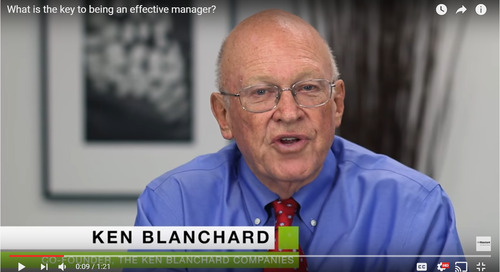 Coaching Tuesday: Ken Blanchard on the Key to Being an Effective Manager