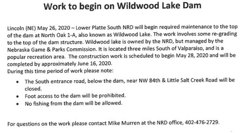 Wildwood Dam Work