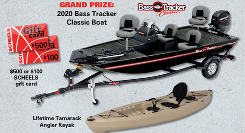 New Take 'em Fishing grand prize: Bass Tracker Classic
