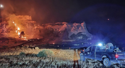 Crews responding to wildfires in the Panhandle