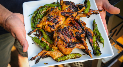 Grilled Curry Quail Recipe