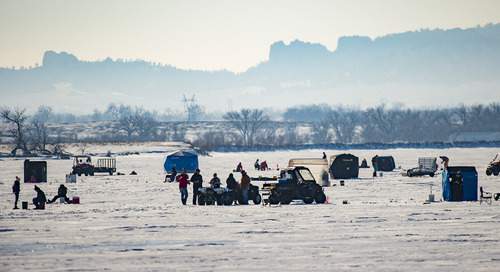 Ice-fishing underway at some Panhandle lakes