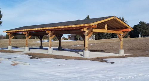 New shelter constructed at Merritt Reservoir