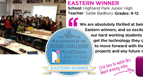 Last year's Classroom of the Future Eastern winner Sadie Bradbury, Highland Park Junior High blogs her insights on creating a winning video