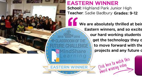 Last year's Classroom of the Future Eastern winner Sadie Bradbury, Highland Park Junior High blogs her insights on creating a winning video