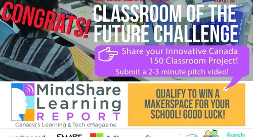 Classroom of the Future Winners Announced!