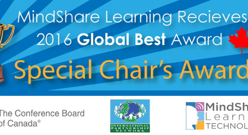 MindShare Learning Technology Wins 2016 Special Chair's Global Best Award