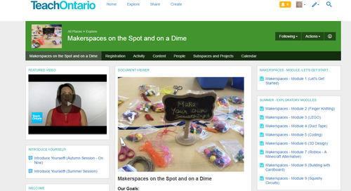 Developing a Maker Pedagogy by Tina Ginglo, Instructional Liaison at TVO, Educational Partnerships/Digital Learning.