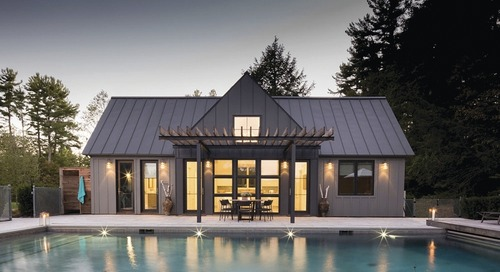 Designer Thinks Big with Pool House in the Berkshires