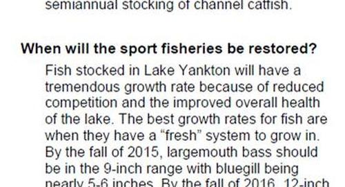 Lake Yankton Renovation