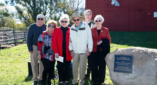 Chet McClain Field Trial Area Dedicated at Branched Oak