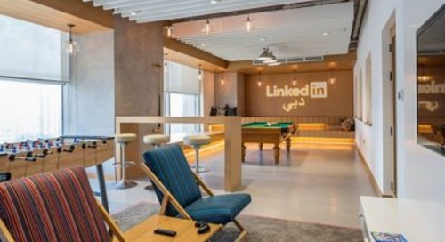 Regional LinkedIn HQ in Dubai Features Modern Office Pendant Lights