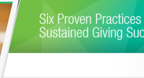 6 Proven Best Practices for Your Sustained Giving Program