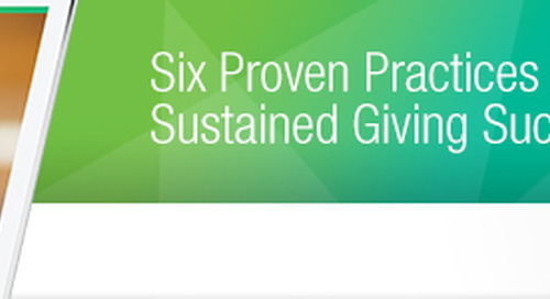 Monthly Giving: 4 Ways to Improve Donor Retention and Recruit Sustainers