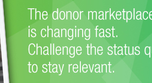 New Study Monitors Dramatically Transforming Donor Behavior