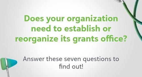 Establishing a Grant Office at a Healthcare Organization