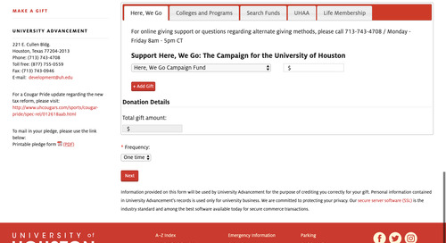 2 Opportunities for Higher Ed Institutions to Improve their Online Giving Experience