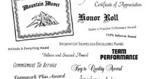 Sample Employee Recognition Award Certificate Titles