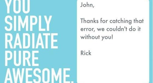 How To Write a Recognition Ecard