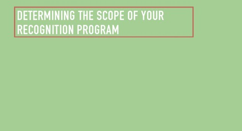 Free eBook Chapter Three: Determining the Scope of Your Recognition Program