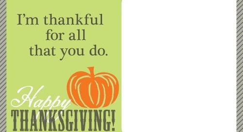 Happy Thanksgiving! Send a Free ePraise to say Thanks!