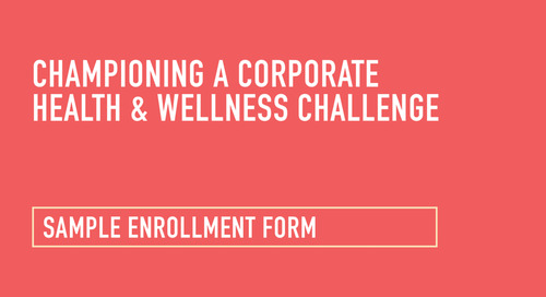 Health and Wellness Challenge: Sample Enrollment Form