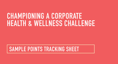 Health and Wellness Challenge: Sample Tracking Sheet