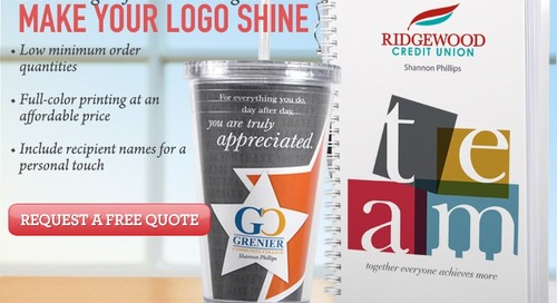 Your Logo + Your Fave Baudville Products = A 'Custom Gifts' Match Made in Heaven