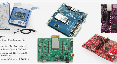 An IoT development kit comparison