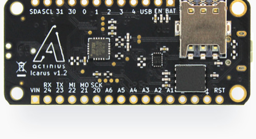 Actinius Cellular IoT Prototyping Platform Compatible with Adafruit FeatherWing