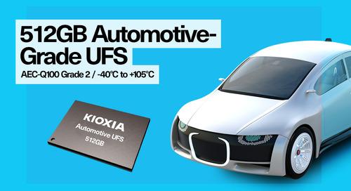 KIOXIA America Introduces 512GB Automotive UFS