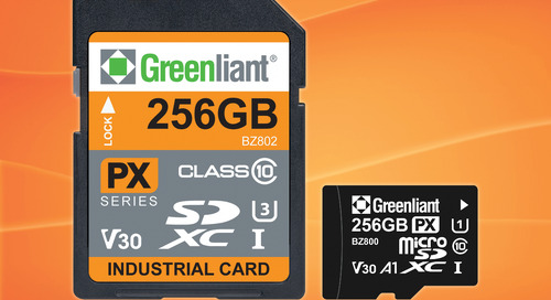 Greenliant's SD and microSD ArmourDrive Memory Cards Operate at Industrial Temperatures