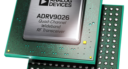 Analog Devices Introduces Wideband RF Transceiver to Simplify System Design, Reduce Cost