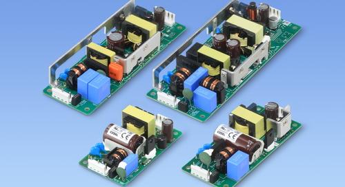 COSEL Expands UL/EN62368-1 Certified Low Profile Open Frame Power Supplies
