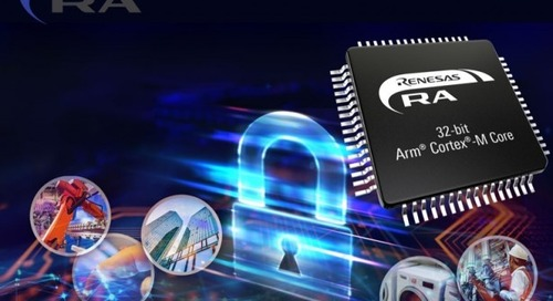 Newark Introduces Renesas Electronics' RA Family of 32-bit Arm Cortex-M Based MCUs