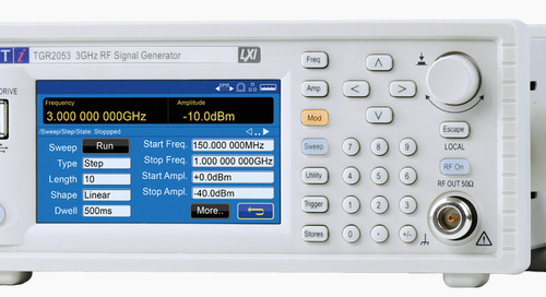 Next Generation Aim-TTi TGR2050 Series RF Signal Generators from Newark Now Available
