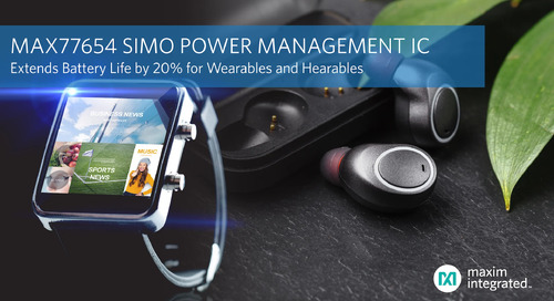 Maxim Integrated's Releases New SIMO Power Management IC