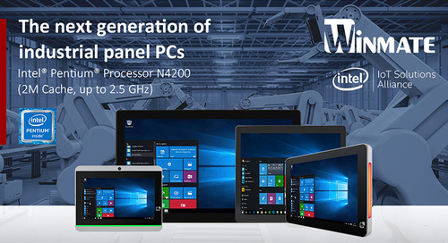 Winmate Extends HMI Panel PC Product Line with Intel® Pentium® Processor N4200