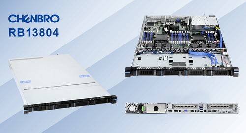 Chenbro launches 1U Xeon® HPC Server with 4x Universal Drive Bay - the Chenbro RB13804