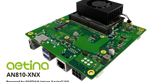 Aetina Launches New NVIDIA Jetson-based Platform AN810-XNX