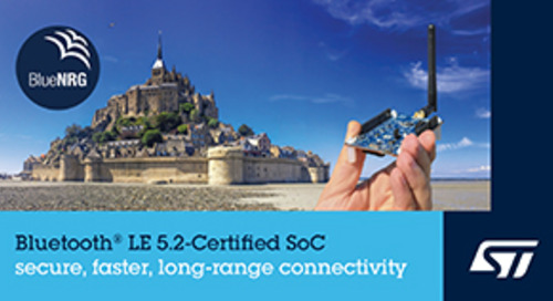 STMicroelectronics Introduces Bluetooth 5.2-Certified SoC