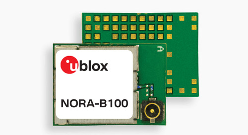 u-blox Releases NORA-B1 Bluetooth Module