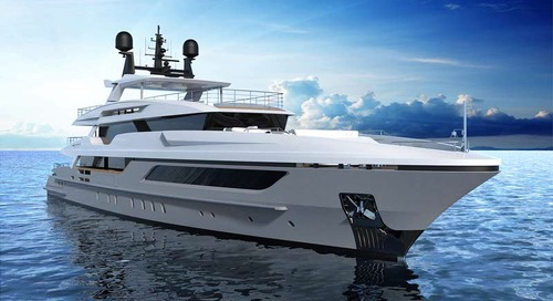 The launch of the Baglietto 48m hull #10228